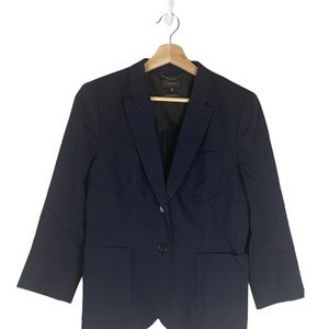Aritzia BABATON structured blazer navy blue 10